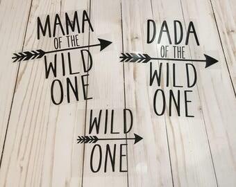 Wild ONE Iron On for Shirt, Wild One Birthday, First Birthday Iron on, Girl First Birthday, Boy First Birthday, smash cake outfit, Arrow
