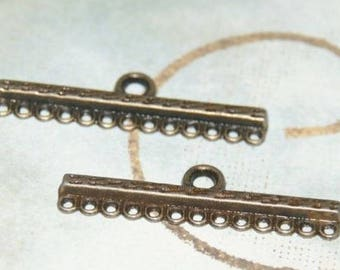 Great connector bar 13 rows bronze 38x10mm