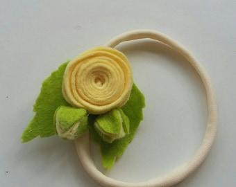 Felt Flower Headband, felt flowers , flower headband, headband, handmade headband, hair accessories