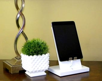 Phone Stand Charging Station Wood Cell Phone Dock iPad iPhone Android Tablet