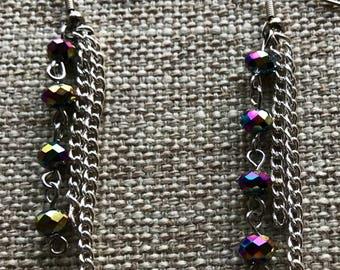 Fun multi color dangle earrings