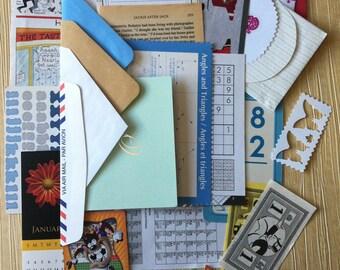 Mini Junk Journal Scrapbooking Assortment  DIY Kit, Over 35 pieces.