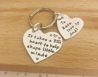 teacher gifts, personalised teacher gifts, gifts for teacher, thank you gift, childminder, teacher gift, personalised teacher keyring, nanny