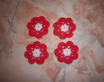 Crocheted cotton flowers to decorate your creations