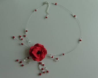 poppy Crystal and Red wire hypoallergenic available on wedding