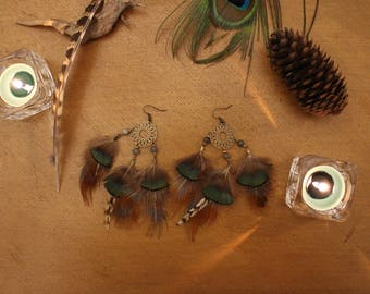 Pair of earrings feathers - Gloria