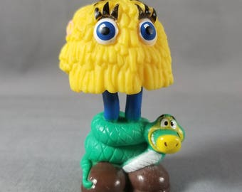 80's Toy ~ McFry Guys ~ Yellow McFry Girl ~ Snake ~ McDonald's ~ Happy Meal ~ Interchangeable Legs ~ Cake Topper ~ My Nostalgic Life