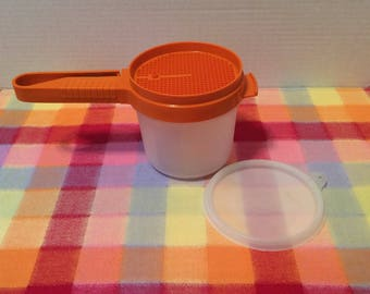 Tupperware Sift-It Flour Vintage Tupperware Flour Sifter Tupperware Sift-It Orange