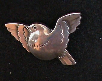 Silver Dove in Flight Pin