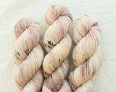 Demimonde - Penny Dreadful inspired speckled sport yarn on SATURN non-superwash 100% Merino sport weight yarn - ready to ship!