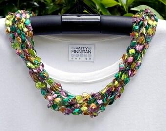 Crochet Ladder Yarn Necklace, Amazon
