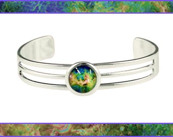 Silver Venus bangle with Photo Card