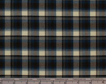 "Cornish Poly Rayon Plaid Stretch Suiting Fabric""LTHR3P-F072526"""