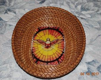"""Pine Needle Basket """"Holy Spirit"""""""
