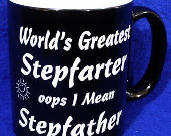 Stepfather Gift ~ Birthday For Stepfather ~ Custom Coffee Mug ~ Dad Gifts ~ Gift For Men ~ Stepfather ~ Fun Gift For Stepfather ~ Dad Mugs ~
