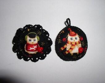 Christmas owls key holder and PIN