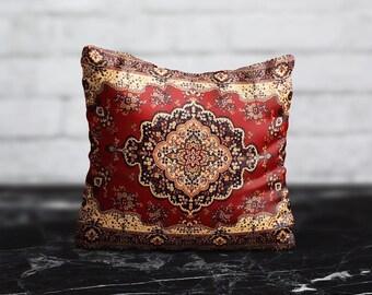 Decorative Pillow Persian Carpet PillowCase Moroccan Pillow Cushion Case Persian Rug Pillow Living Room Home Decor Throw Pillow Covers 20x20