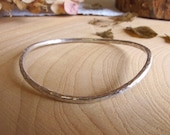 Sterling silver hammered ...