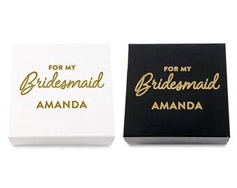 Personalised Bridesmaid Gift Box, Wedding Essential, Black, White, Gold, Bridesmaid Gift