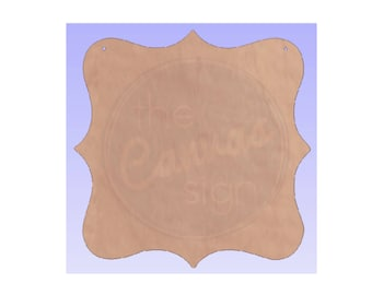 Blank Wood Decorative Plaque Cutout #2 - DIY - Wreath Accent - Door Hanger - Unfinished - Ready to Paint & Personalize