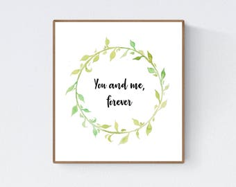 Green Leaf Quote Craft, project, wreath, cute quote wall art, template, spring, summer, decor, Essie Lee