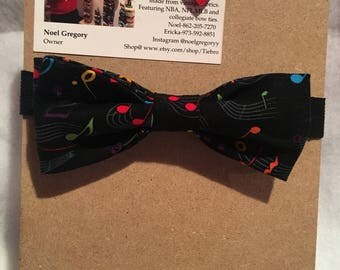 Musical notes bow tie, bow ties for men, bow ties for boys, holiday bow ties