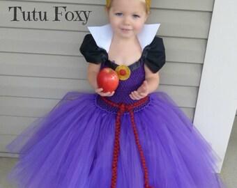 Scary Costume, Evil Queen Tutu Dress, Evil Queen Costume, Snow White Birthday Outfit, Snow White Costume, villian costume,