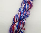 America the Beautiful Self Striping - Hand Dyed Fingering Weight Yarn - Bootheel