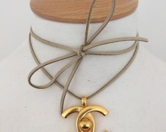 Chanel Turnlock Pendant Necklace