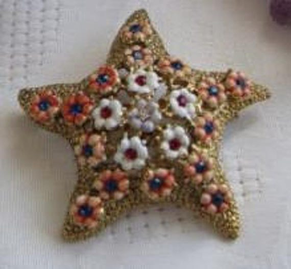Amazing VTG Starfish Brooch by Hattie Carnegie