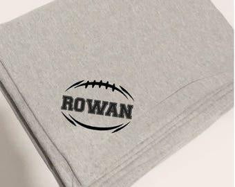 football stadium blanket, Sports blanket, Sweatshirt blanket, fleece blanket, fleece throw, personalized throw, stadium blanket, scallop,