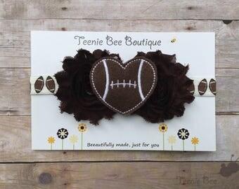 Football Headband - Baby Football Headband - Toddler Football Headband - Newborn Football Photo Prop - Football Hair Accessories