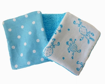 Set of 10 wipes Terry and cotton characters