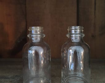 Small Glass Bottles - Vintage