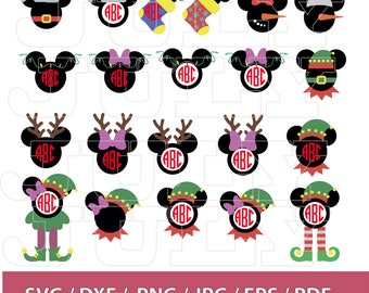 70 % OFF, Christmas Mickey Svg, Mickey Mouse svg, Mickey Mouse Clipart, Mickey Monogram, Minnie Christmas SVG, Mickey Mouse  Vector