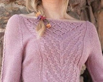 Pink sweater in soft Merino Wool / order