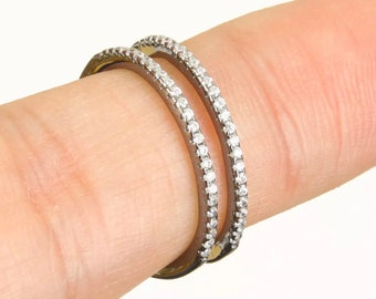 solid sterling silver topaz ring