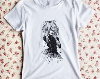 Dark Lady Gothic Spider Web T-Shirt