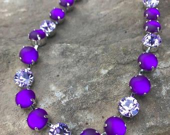 11mm amethyst matte and  violet