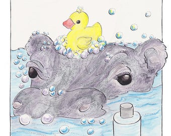 A Hippo at Home picture book