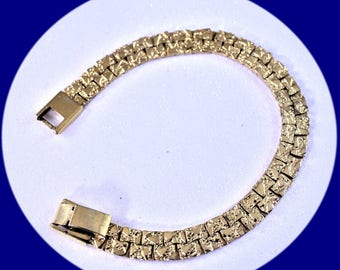 Vintage Bracelet Art Deco Bracelet Gold Tone Bracelet Vintage Bracelet Gold Link Bracelet Vintage Jewelry Costume Jewelry Unique Gift