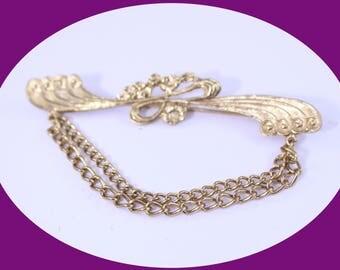 Vintage Gold Brooch  Art Deco  Brooch Vintage Jewelry Vintage Brooch  Gold Brooch Broch pin