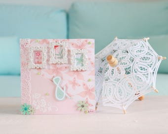 Pink Mint congratulations wedding card