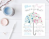 Gender Reveal Invitation, Gender Reveal Party, Gender Reveal Invites, Boy Or Girl, Blue or Pink, Gender Reveal Party Invitation [300]