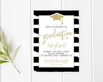Graduation Party Invitation, College Graduation, High School Graduation, Grad Party, Graduation Party Invitations, Grad Party Invites [482]