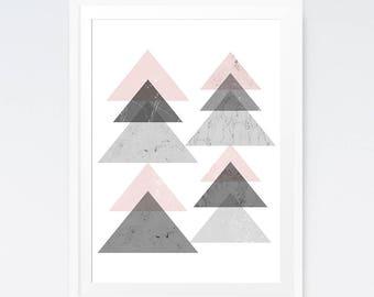 Abstract digital download, Minimalist Geometric, Abstract poster, Downloadable art, Modern abstract, Geometric poster, Printables prints