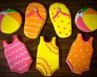 Summer Themed Sugar Cookies