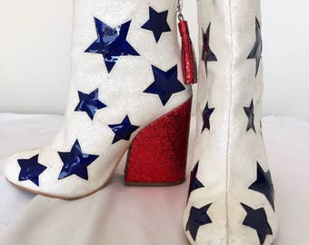 Amazing Vintage  All American Patriotic Boots
