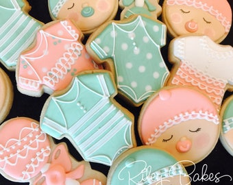 Mint To Be Baby Shower Cookies, Mint to be cookies, Mint to be invitation, Mint to be baby shower