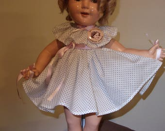 Shirley Temple dress for a 20 inch compo doll
